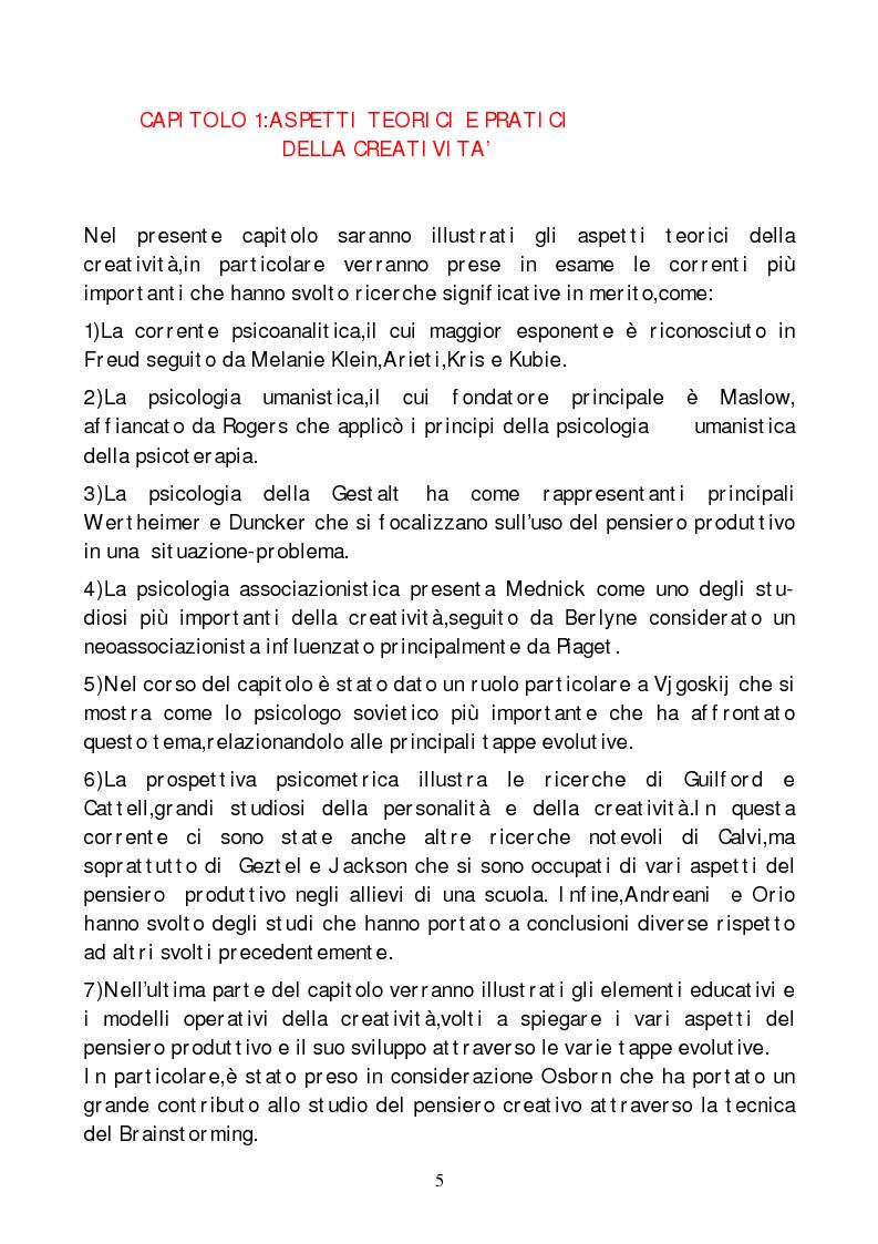 Anteprima della tesi: Metodi di indagine della creatività, Pagina 2