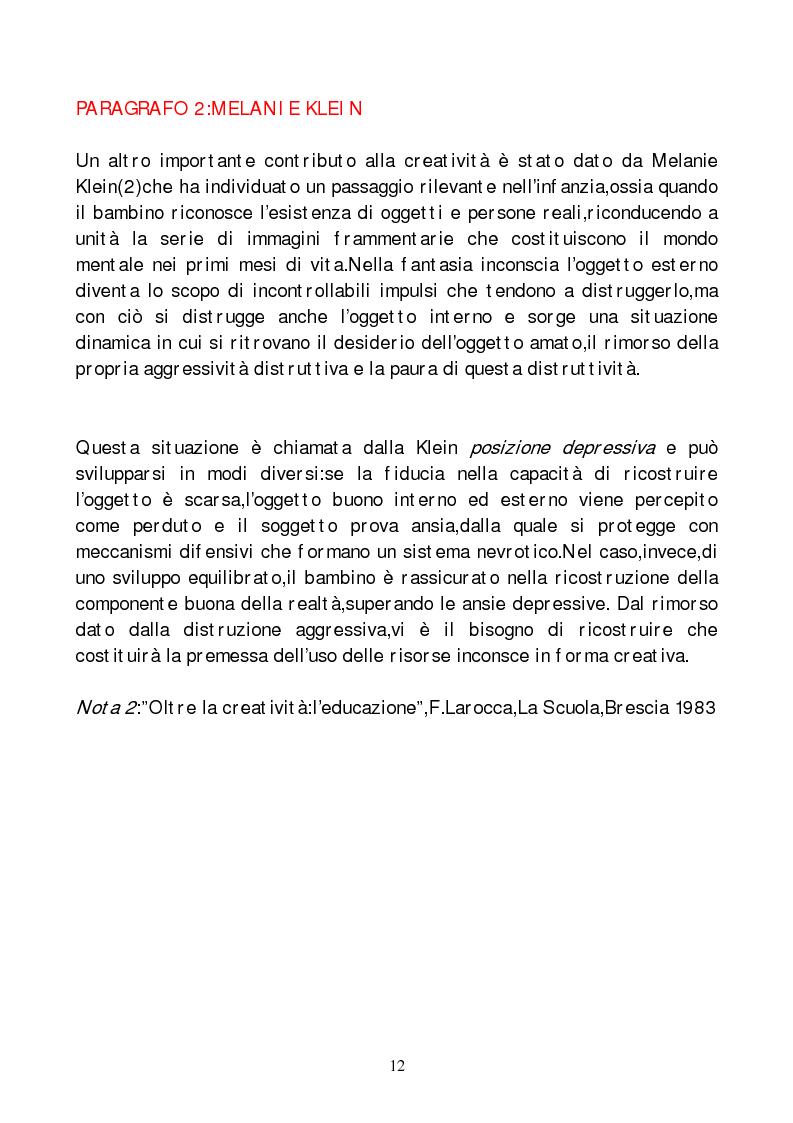 Anteprima della tesi: Metodi di indagine della creatività, Pagina 9