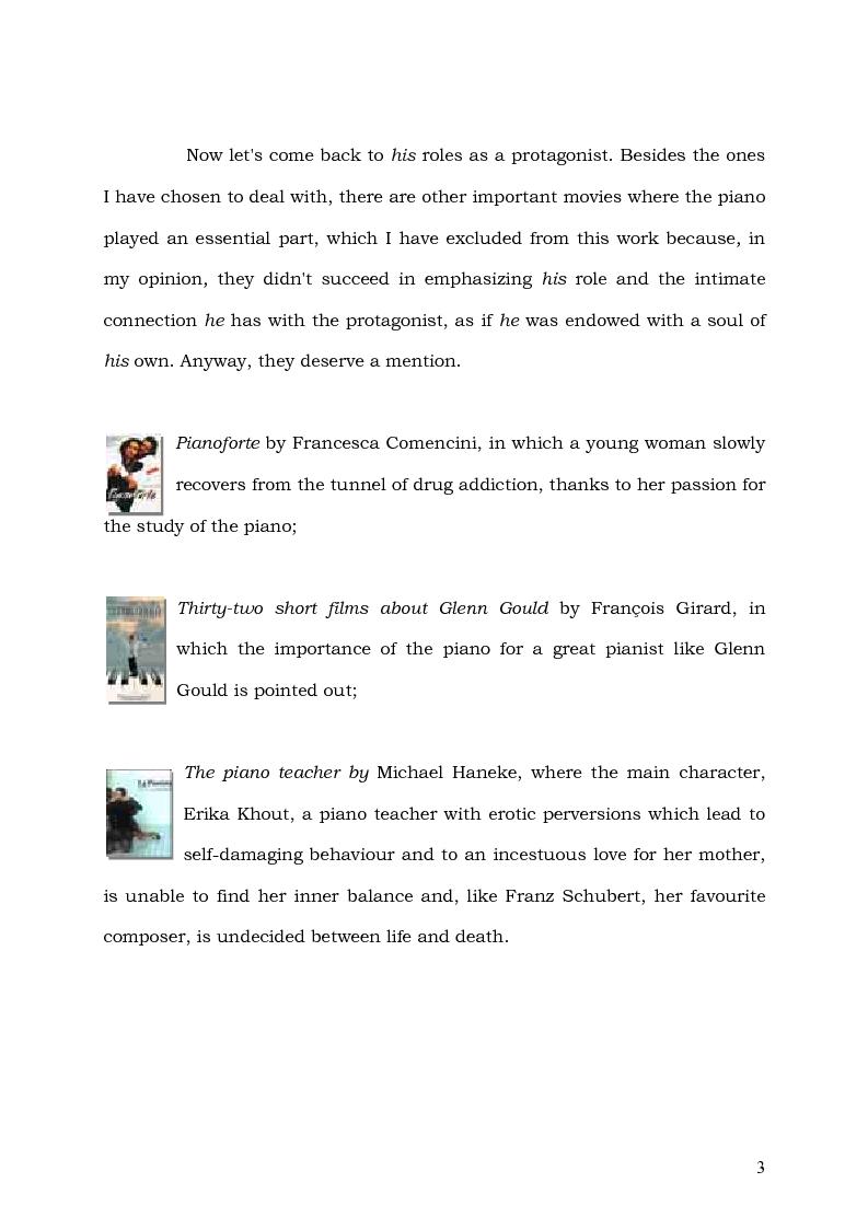 Anteprima della tesi: Il Pianoforte come espressione dell'anima: viaggio tra cinema e realtà, Pagina 3
