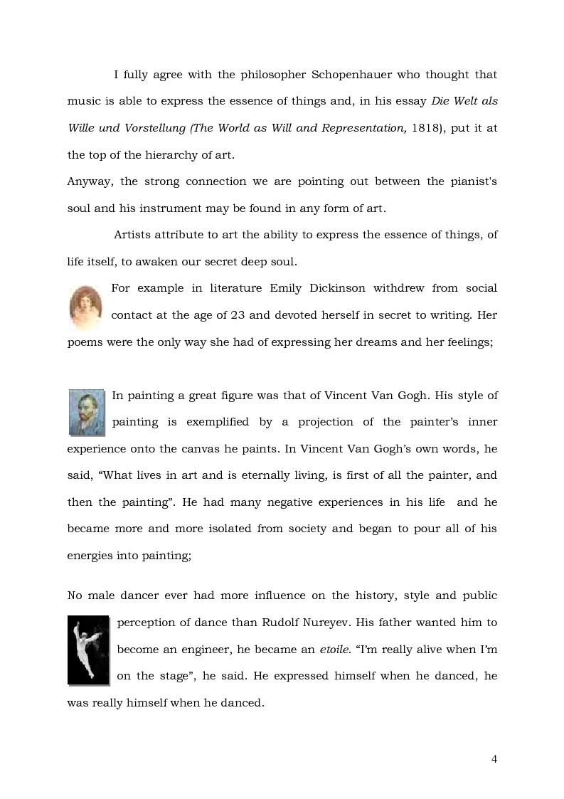 Anteprima della tesi: Il Pianoforte come espressione dell'anima: viaggio tra cinema e realtà, Pagina 4