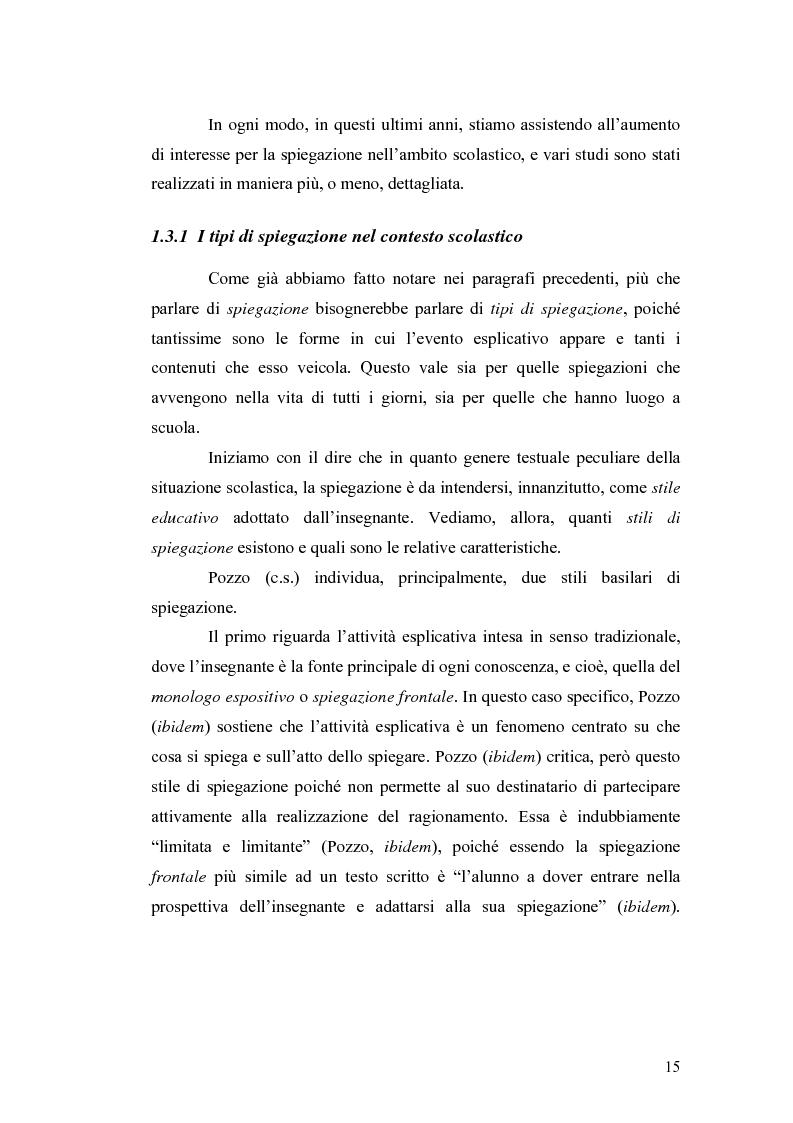Anteprima della tesi: ''Ma dove stanno i riti, professoressa?''. Interazione ed eventi esplicativi in contesti scolastici., Pagina 15