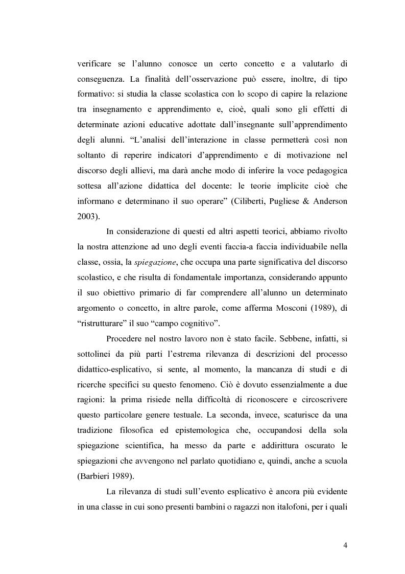 Anteprima della tesi: ''Ma dove stanno i riti, professoressa?''. Interazione ed eventi esplicativi in contesti scolastici., Pagina 4