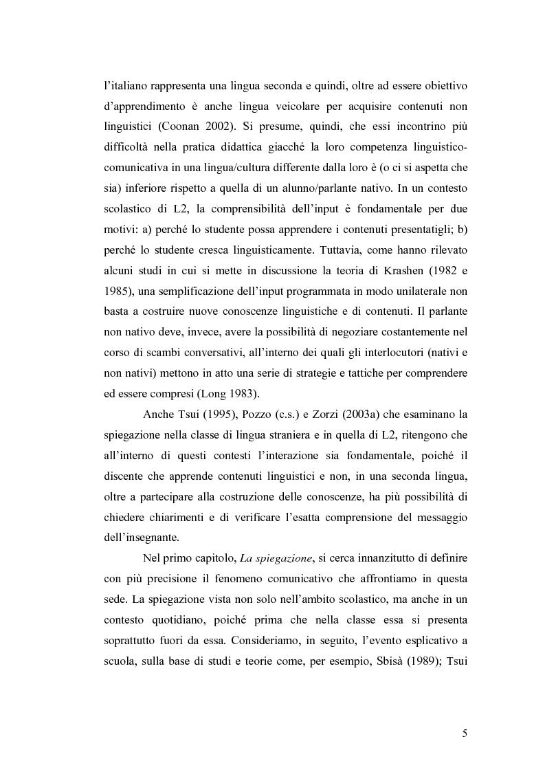 Anteprima della tesi: ''Ma dove stanno i riti, professoressa?''. Interazione ed eventi esplicativi in contesti scolastici., Pagina 5