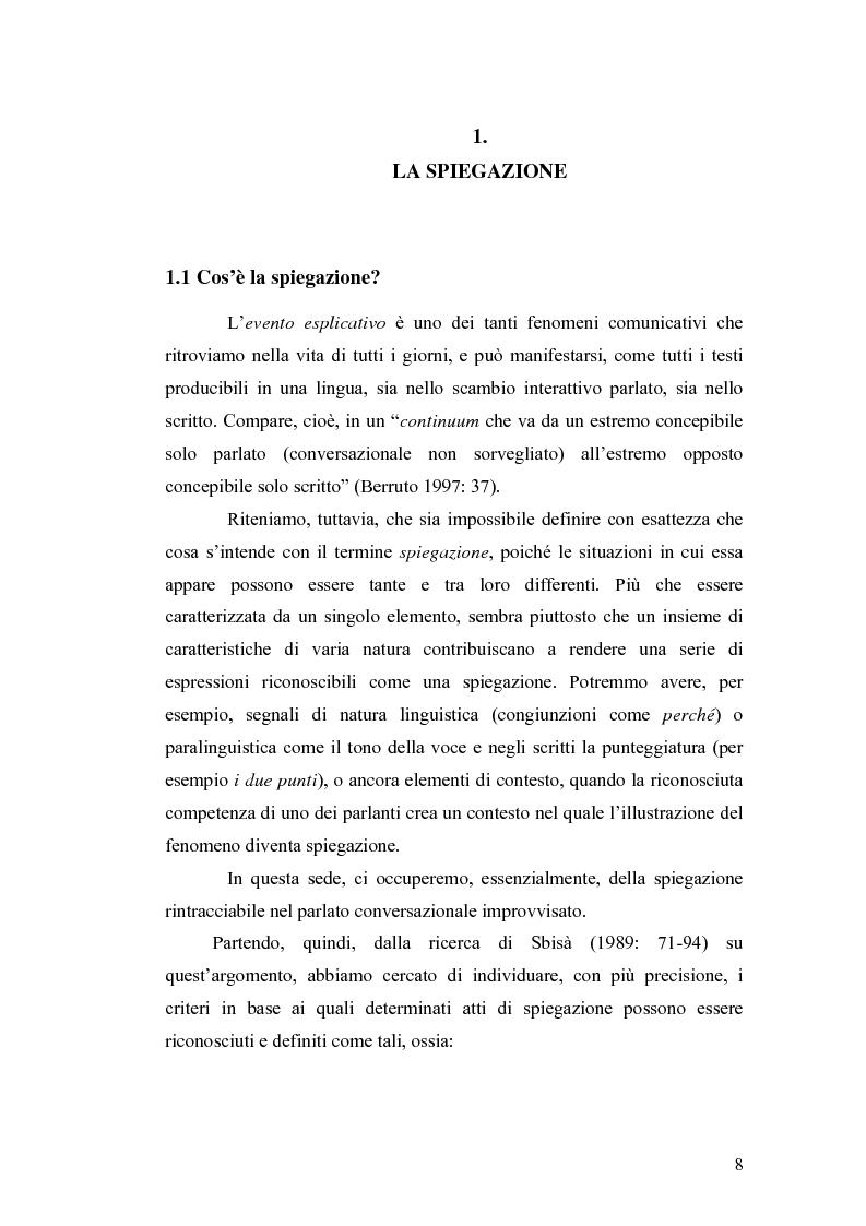 Anteprima della tesi: ''Ma dove stanno i riti, professoressa?''. Interazione ed eventi esplicativi in contesti scolastici., Pagina 8