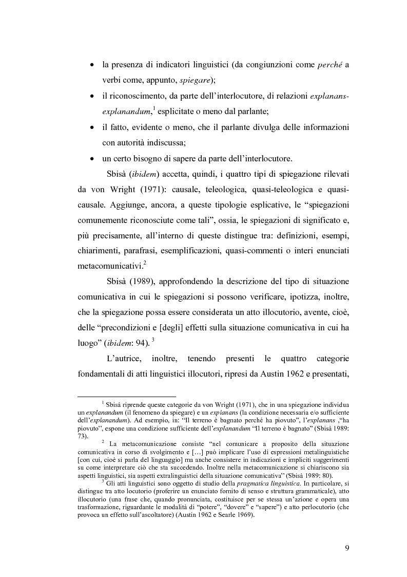 Anteprima della tesi: ''Ma dove stanno i riti, professoressa?''. Interazione ed eventi esplicativi in contesti scolastici., Pagina 9