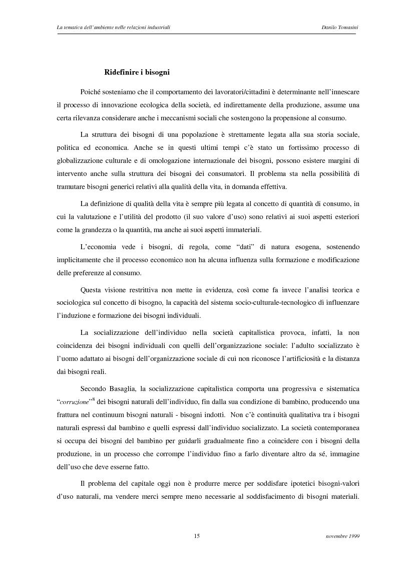 Anteprima della tesi: La tematica dell'ambiente nelle relazioni industriali, Pagina 12