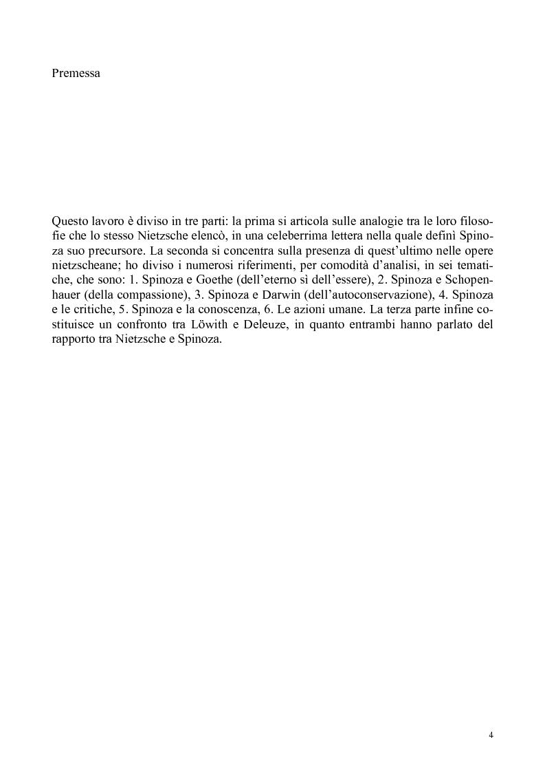 Anteprima della tesi: Umano, solo umano - un confronto Nietzsche Spinoza, Pagina 1