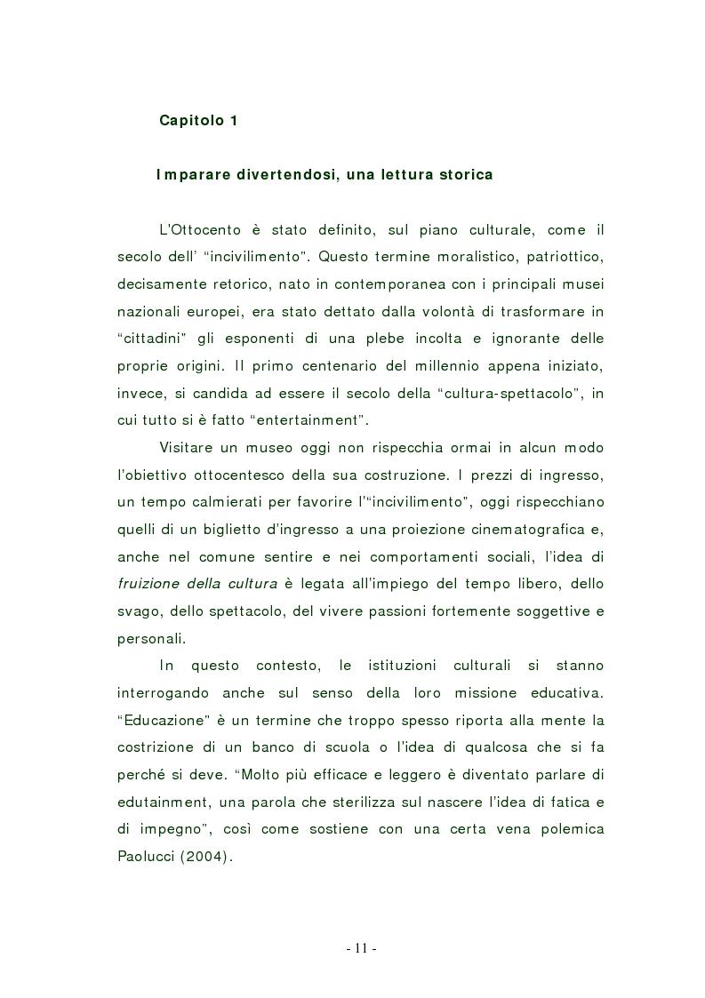 Anteprima della tesi: L'edutainment come fonte di valore per l'impresa e l'individuo., Pagina 10