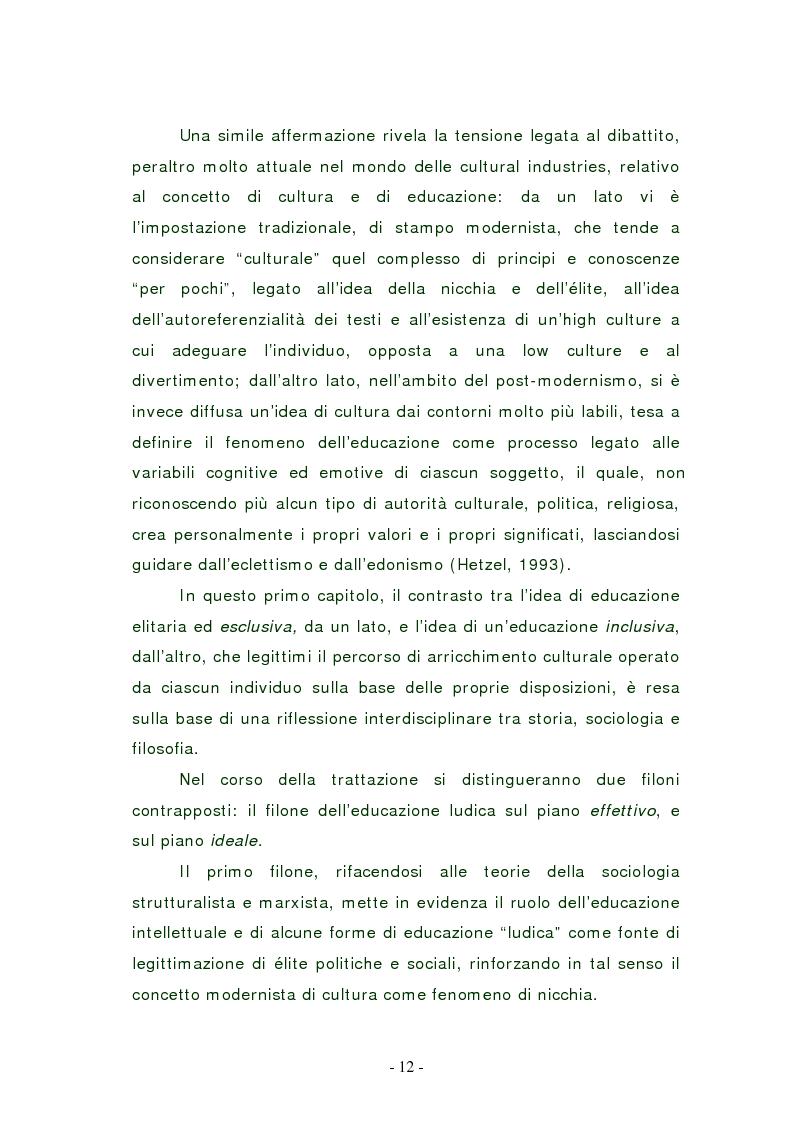 Anteprima della tesi: L'edutainment come fonte di valore per l'impresa e l'individuo., Pagina 11