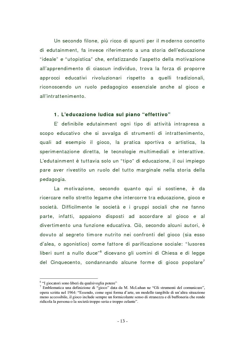 Anteprima della tesi: L'edutainment come fonte di valore per l'impresa e l'individuo., Pagina 12