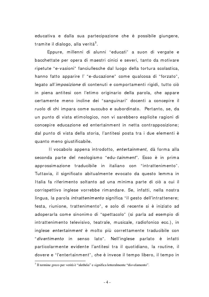 Anteprima della tesi: L'edutainment come fonte di valore per l'impresa e l'individuo., Pagina 4