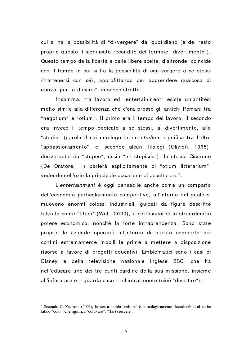 Anteprima della tesi: L'edutainment come fonte di valore per l'impresa e l'individuo., Pagina 5