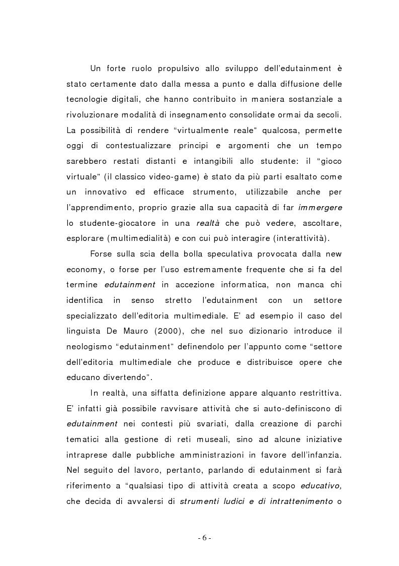 Anteprima della tesi: L'edutainment come fonte di valore per l'impresa e l'individuo., Pagina 6