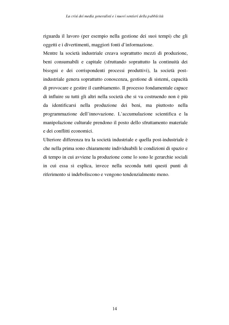 Anteprima della tesi: La crisi dei media generalisti e i nuovi sentieri della pubblicità, Pagina 10