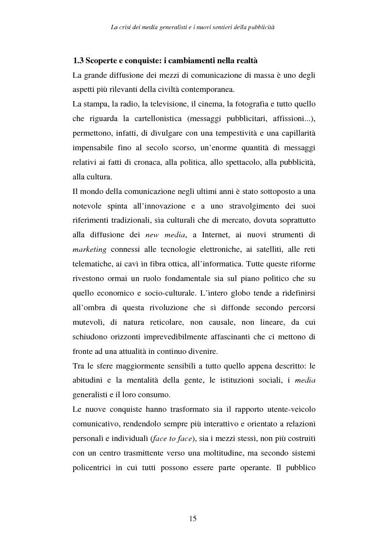 Anteprima della tesi: La crisi dei media generalisti e i nuovi sentieri della pubblicità, Pagina 11