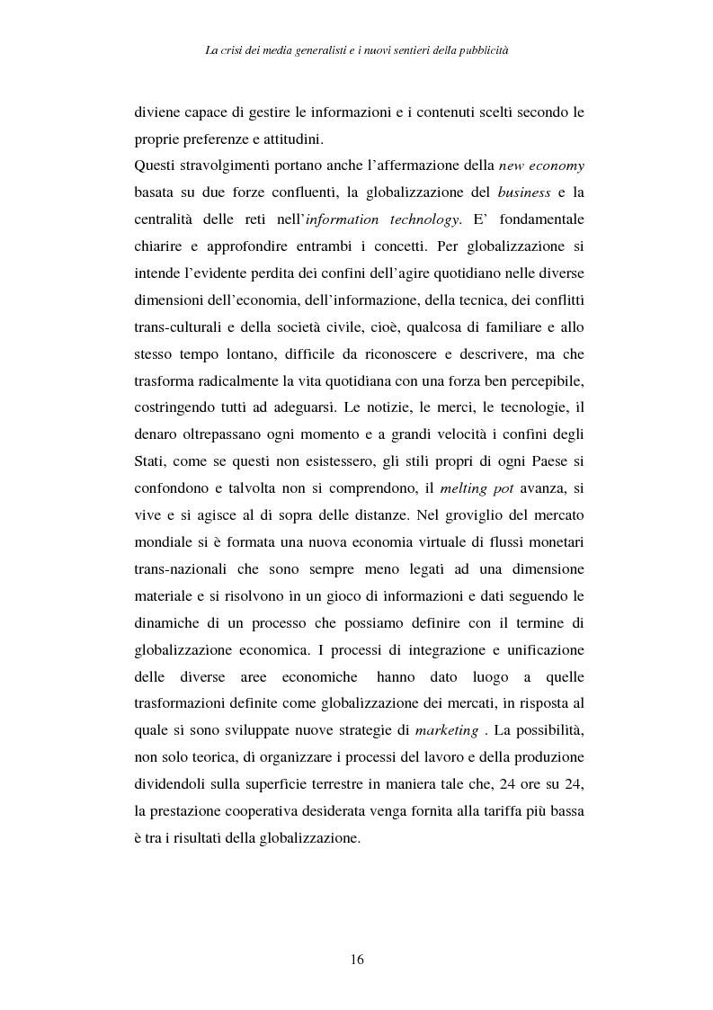Anteprima della tesi: La crisi dei media generalisti e i nuovi sentieri della pubblicità, Pagina 12
