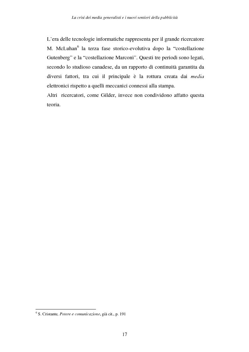 Anteprima della tesi: La crisi dei media generalisti e i nuovi sentieri della pubblicità, Pagina 13