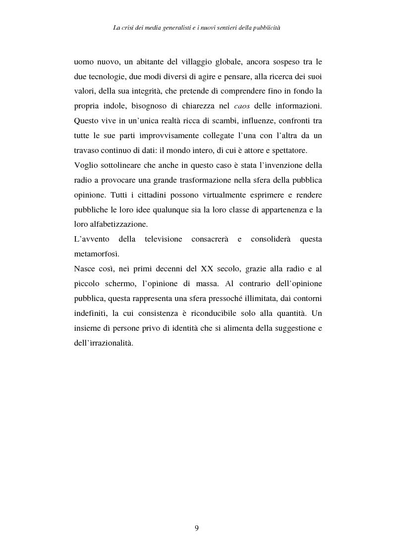 Anteprima della tesi: La crisi dei media generalisti e i nuovi sentieri della pubblicità, Pagina 5