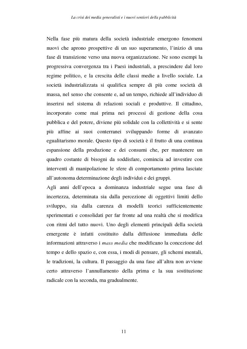 Anteprima della tesi: La crisi dei media generalisti e i nuovi sentieri della pubblicità, Pagina 7