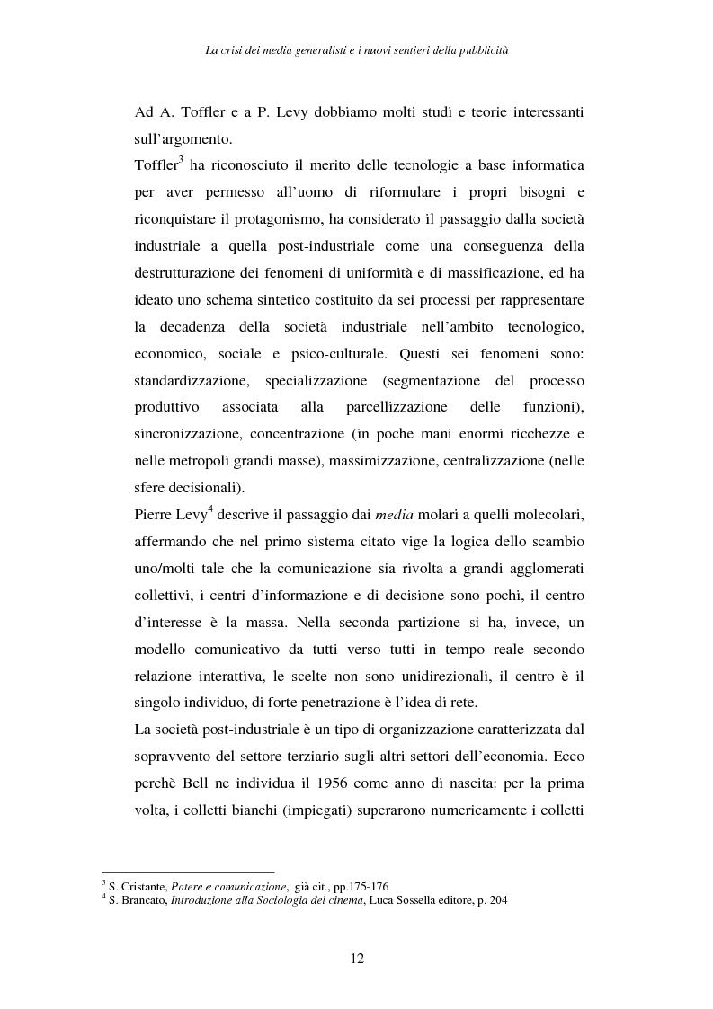 Anteprima della tesi: La crisi dei media generalisti e i nuovi sentieri della pubblicità, Pagina 8