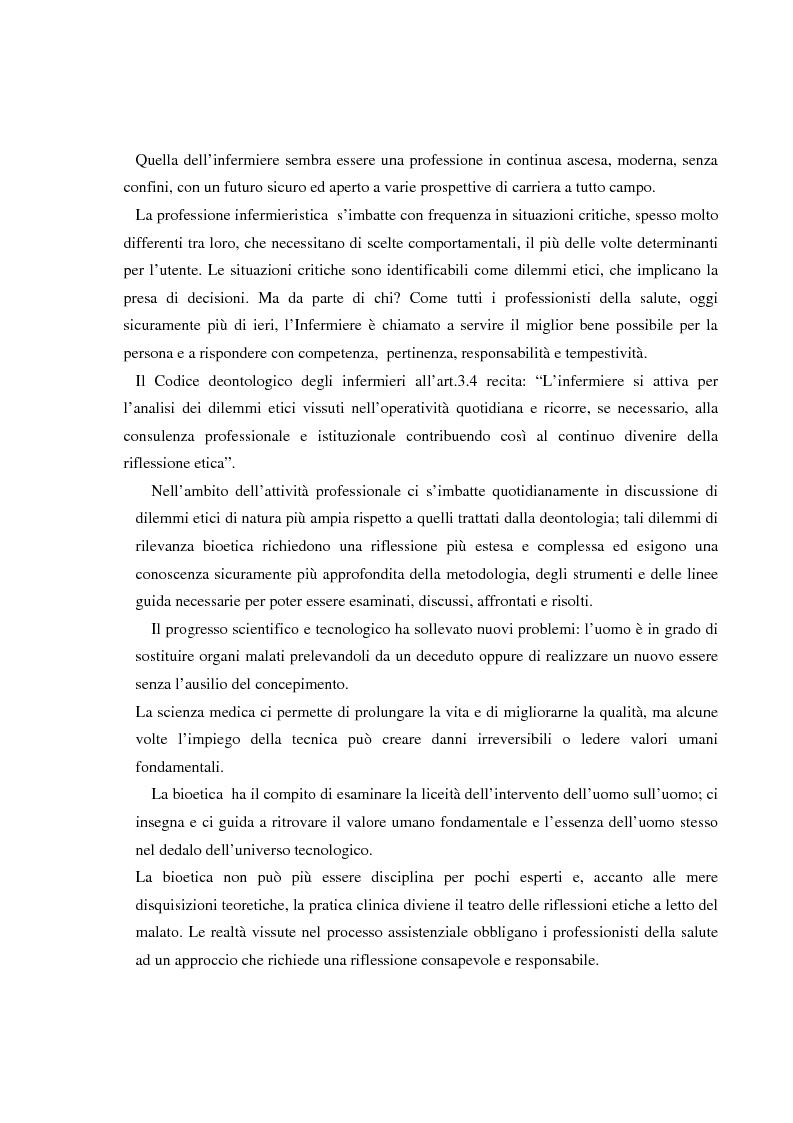 Anteprima della tesi: Dilemmi etici nell'esercizio della professione infermieristica: quali linee guida?, Pagina 4