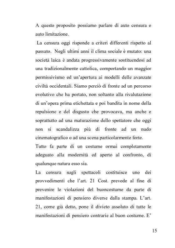 Anteprima della tesi: La censura nel sistema cinematografico e televisivo. Aspetti legislativi, sociali e giuridici., Pagina 11