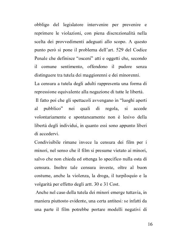 Anteprima della tesi: La censura nel sistema cinematografico e televisivo. Aspetti legislativi, sociali e giuridici., Pagina 12