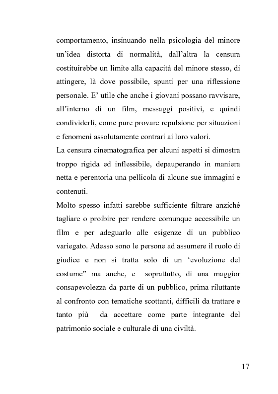 Anteprima della tesi: La censura nel sistema cinematografico e televisivo. Aspetti legislativi, sociali e giuridici., Pagina 13