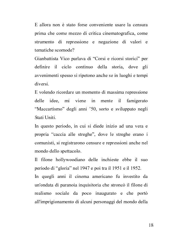 Anteprima della tesi: La censura nel sistema cinematografico e televisivo. Aspetti legislativi, sociali e giuridici., Pagina 14