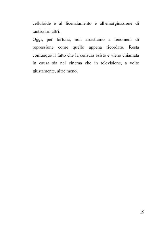 Anteprima della tesi: La censura nel sistema cinematografico e televisivo. Aspetti legislativi, sociali e giuridici., Pagina 15