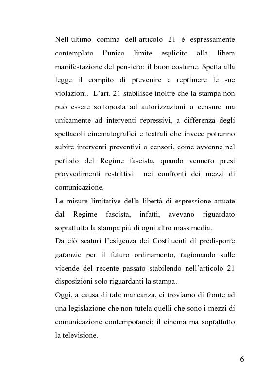 Anteprima della tesi: La censura nel sistema cinematografico e televisivo. Aspetti legislativi, sociali e giuridici., Pagina 2