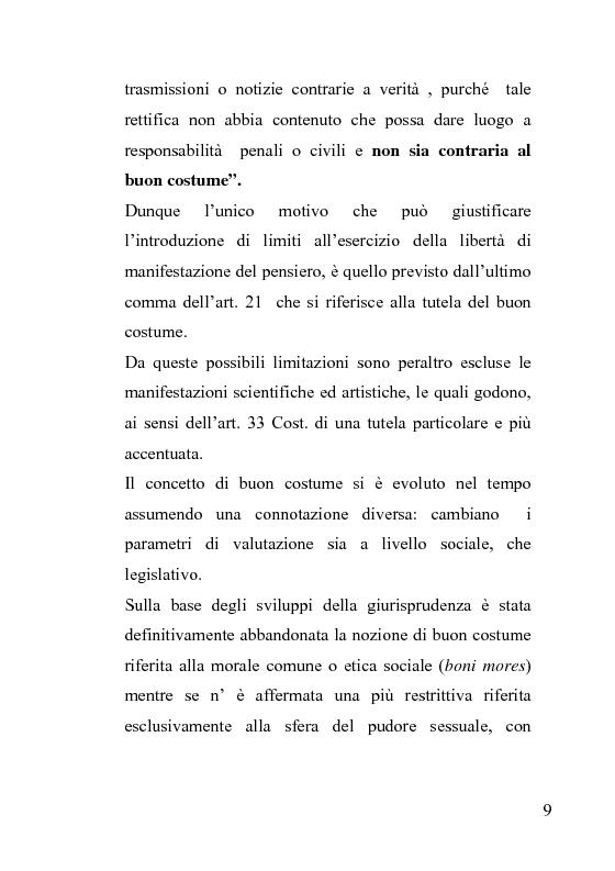 Anteprima della tesi: La censura nel sistema cinematografico e televisivo. Aspetti legislativi, sociali e giuridici., Pagina 5