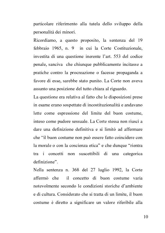 Anteprima della tesi: La censura nel sistema cinematografico e televisivo. Aspetti legislativi, sociali e giuridici., Pagina 6