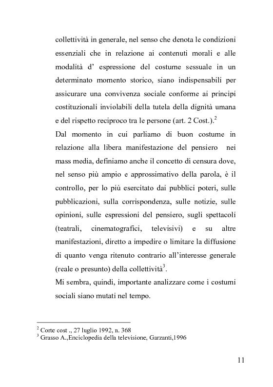 Anteprima della tesi: La censura nel sistema cinematografico e televisivo. Aspetti legislativi, sociali e giuridici., Pagina 7