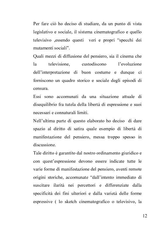 Anteprima della tesi: La censura nel sistema cinematografico e televisivo. Aspetti legislativi, sociali e giuridici., Pagina 8