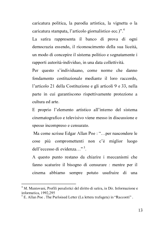 Anteprima della tesi: La censura nel sistema cinematografico e televisivo. Aspetti legislativi, sociali e giuridici., Pagina 9