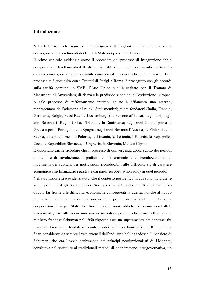Anteprima della tesi: Event-Study and Econometrics Model of government bonds in European Union., Pagina 1