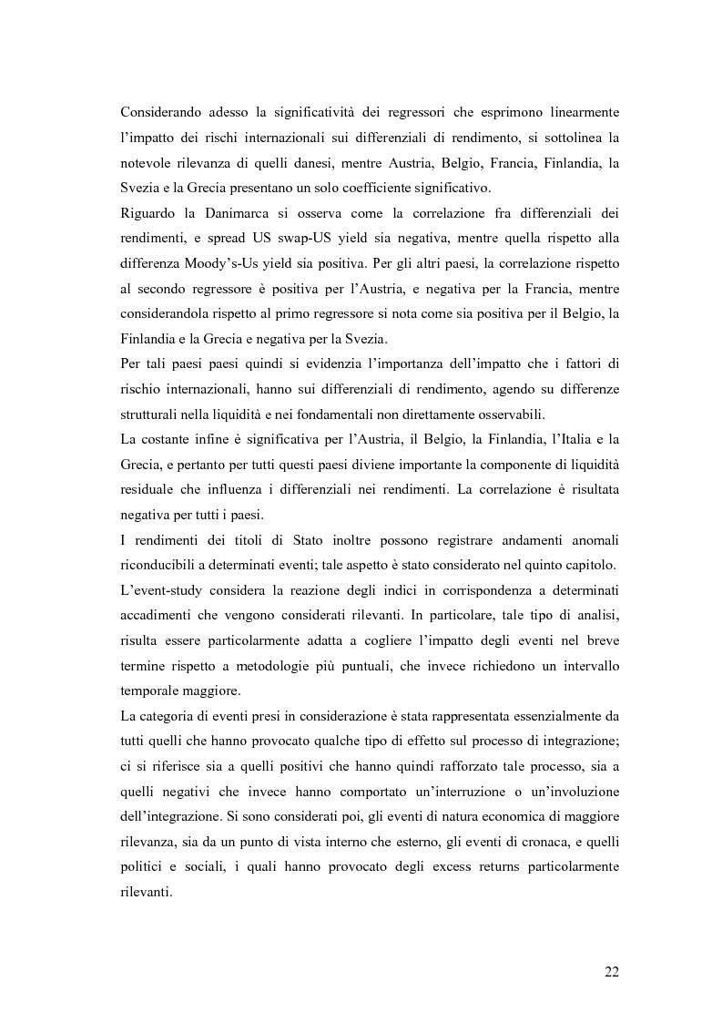 Anteprima della tesi: Event-Study and Econometrics Model of government bonds in European Union., Pagina 10