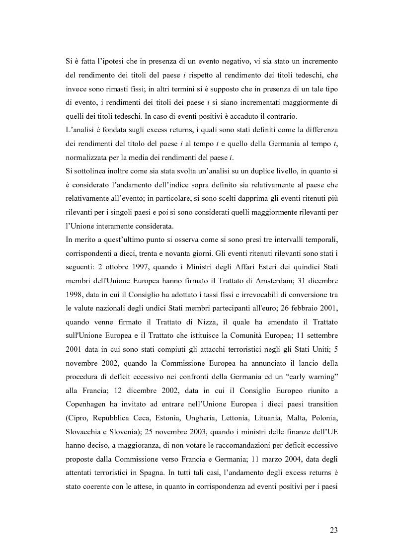 Anteprima della tesi: Event-Study and Econometrics Model of government bonds in European Union., Pagina 11