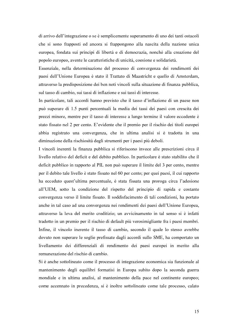 Anteprima della tesi: Event-Study and Econometrics Model of government bonds in European Union., Pagina 3