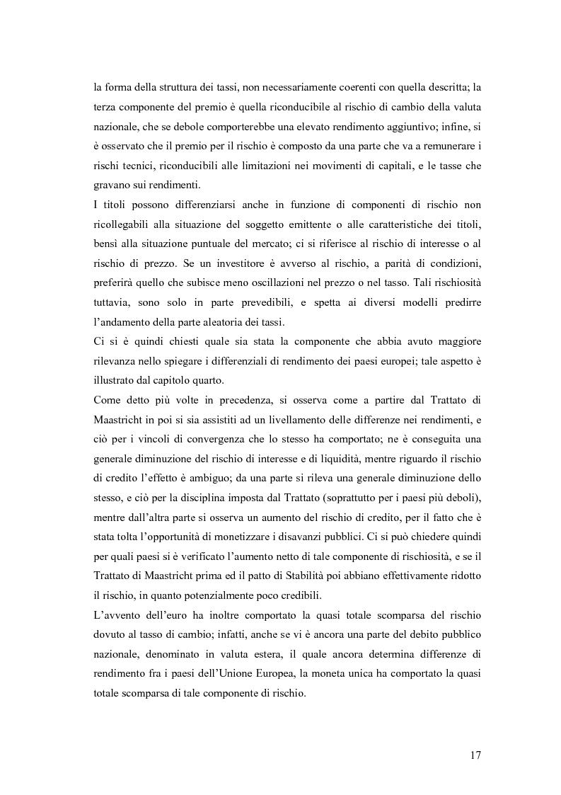 Anteprima della tesi: Event-Study and Econometrics Model of government bonds in European Union., Pagina 5