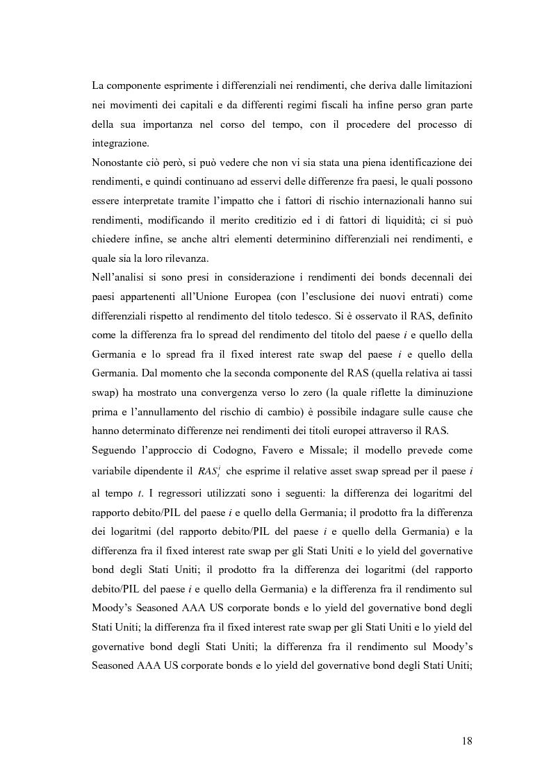 Anteprima della tesi: Event-Study and Econometrics Model of government bonds in European Union., Pagina 6