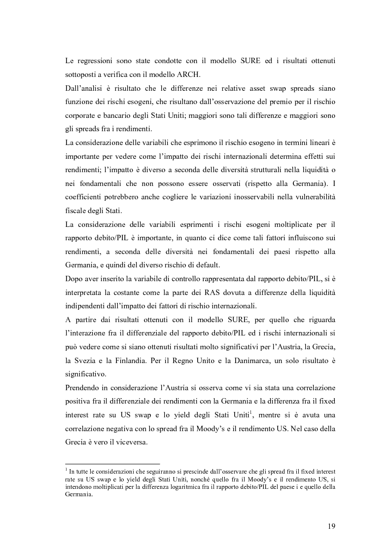 Anteprima della tesi: Event-Study and Econometrics Model of government bonds in European Union., Pagina 7