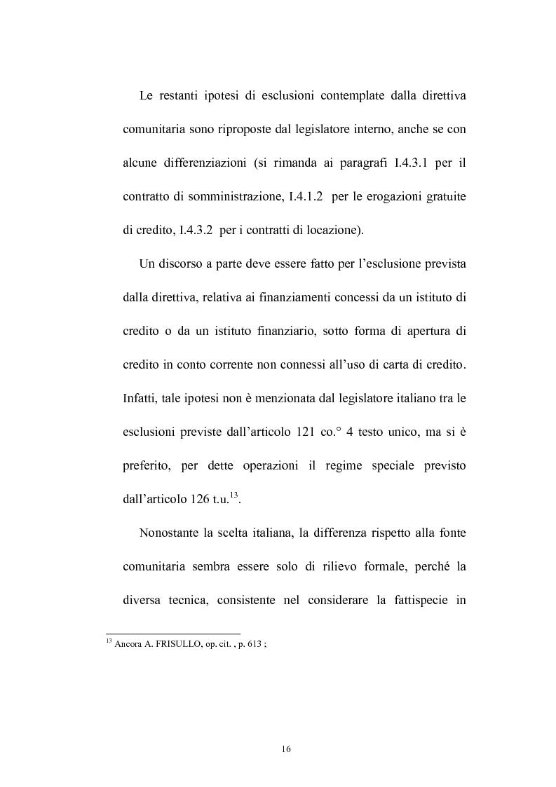 Anteprima della tesi: Il credito al consumo: La fattispecie, Pagina 11