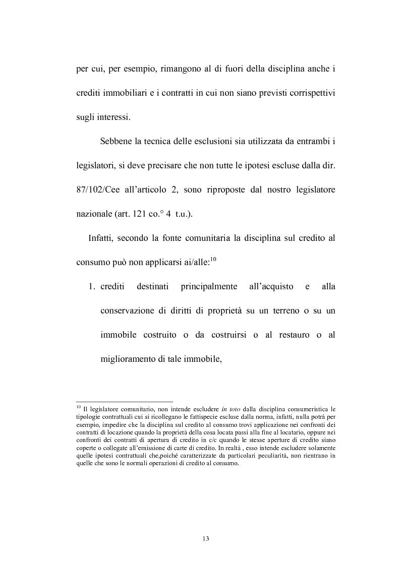 Anteprima della tesi: Il credito al consumo: La fattispecie, Pagina 8