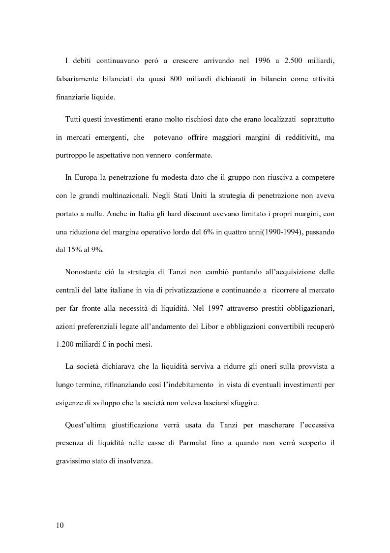 Anteprima della tesi: Il crack Parmalat: una truffa agevolata dal conflitto di interessi degli organi di controllo, Pagina 10