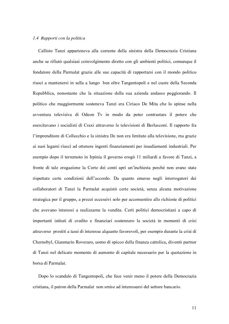 Anteprima della tesi: Il crack Parmalat: una truffa agevolata dal conflitto di interessi degli organi di controllo, Pagina 11