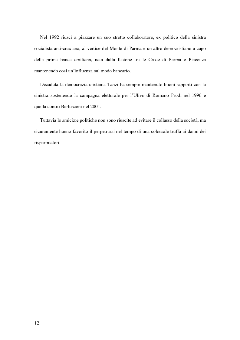 Anteprima della tesi: Il crack Parmalat: una truffa agevolata dal conflitto di interessi degli organi di controllo, Pagina 12