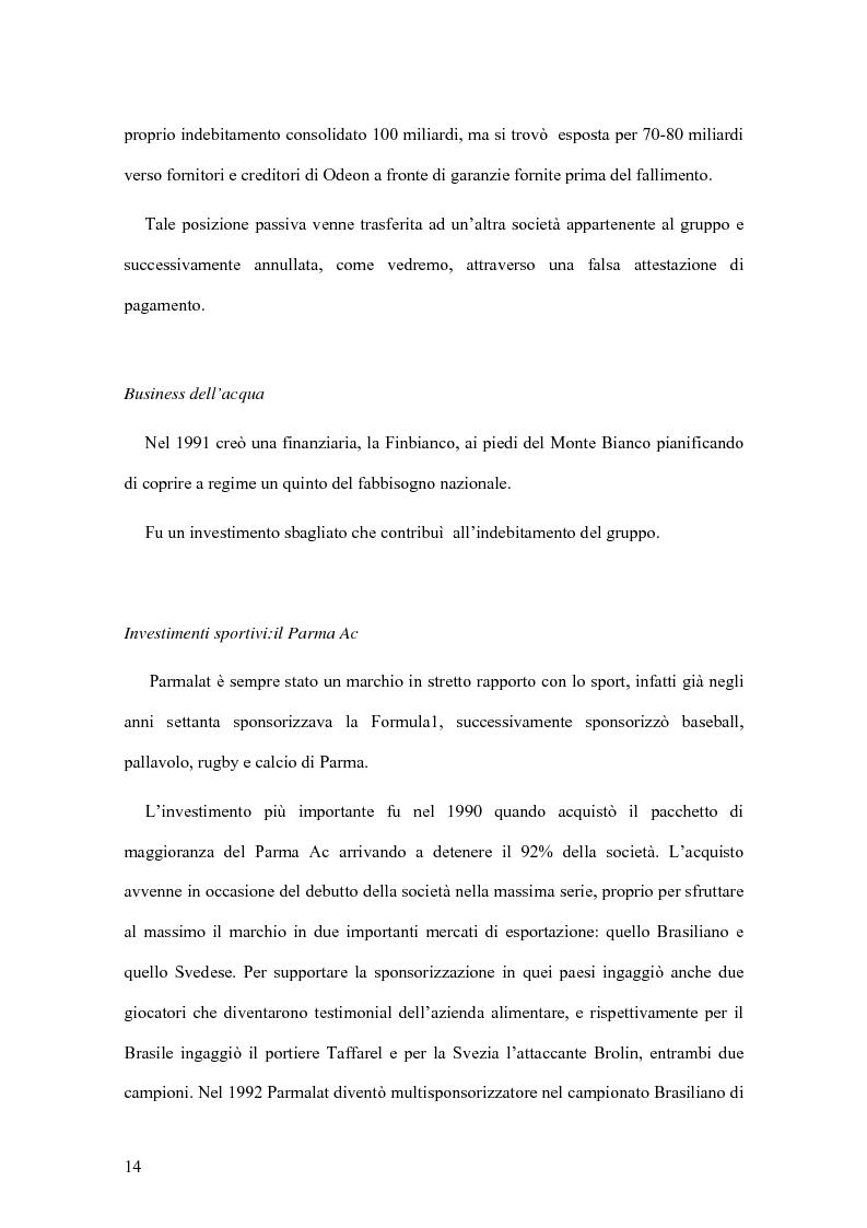 Anteprima della tesi: Il crack Parmalat: una truffa agevolata dal conflitto di interessi degli organi di controllo, Pagina 14