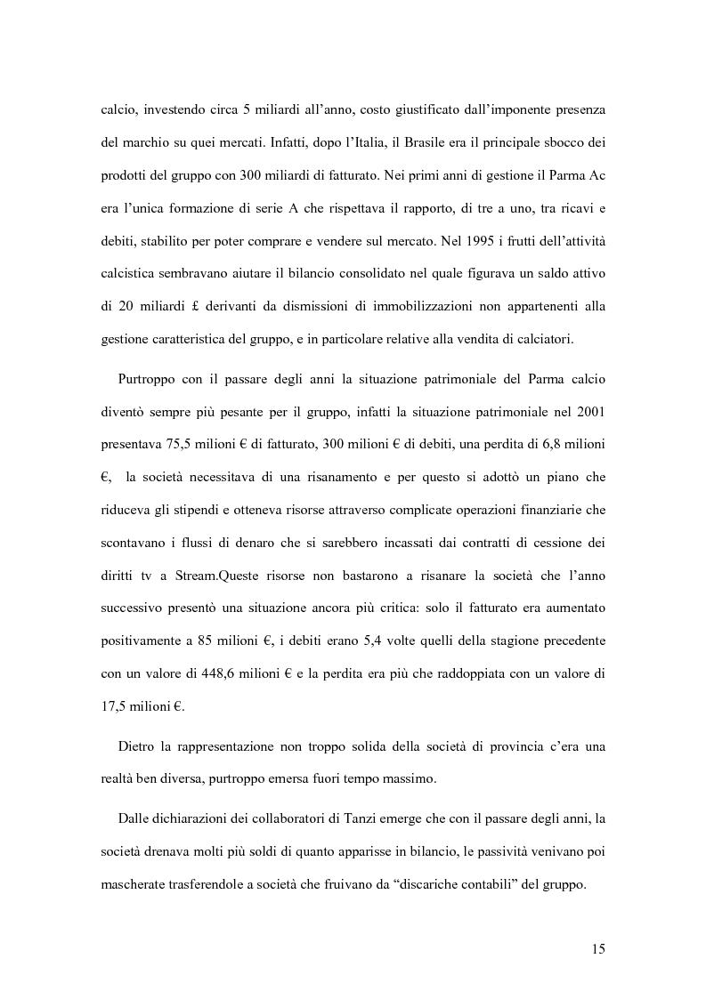 Anteprima della tesi: Il crack Parmalat: una truffa agevolata dal conflitto di interessi degli organi di controllo, Pagina 15